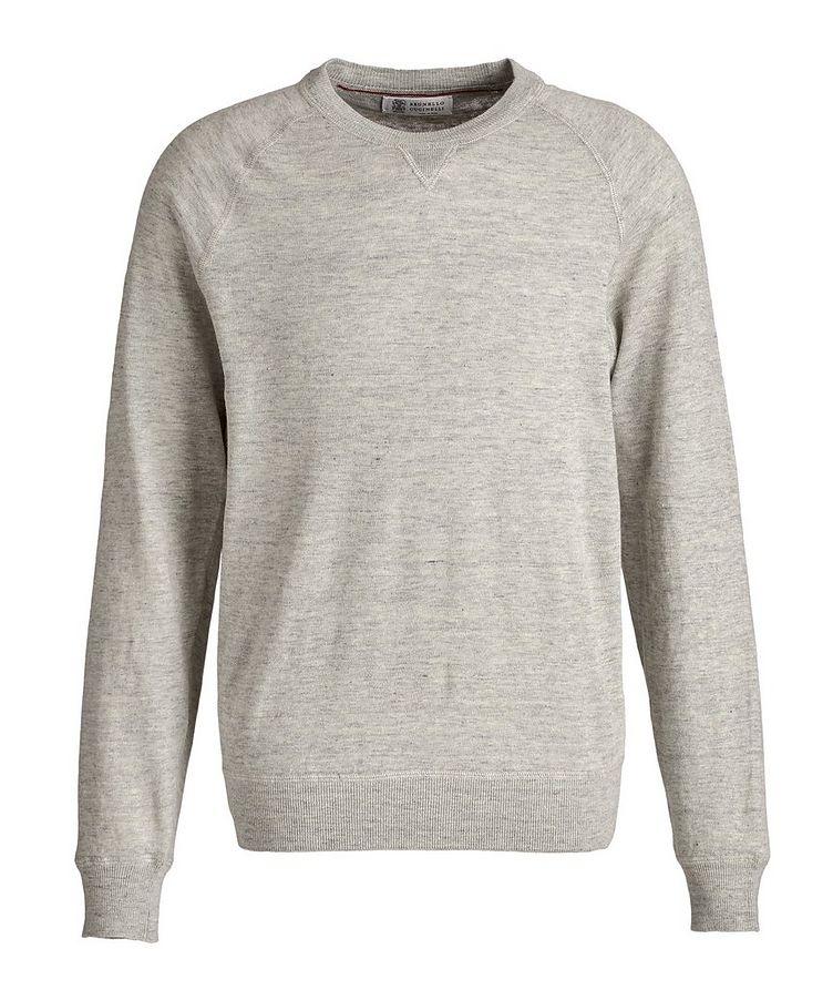 Linen-Cotton Sweatshirt image 0