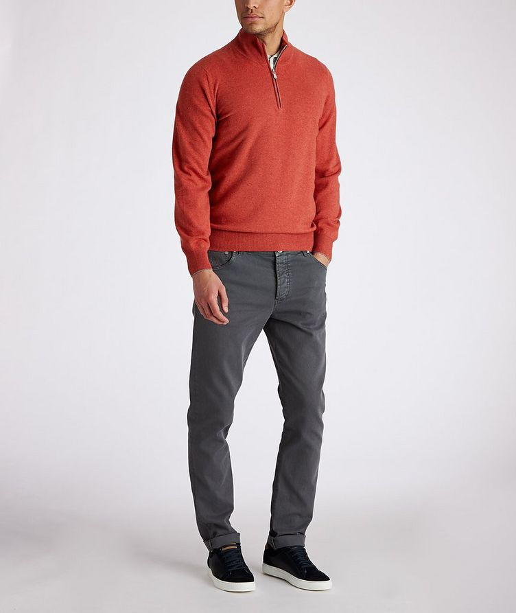 Half-Zip Cashmere Sweater image 4