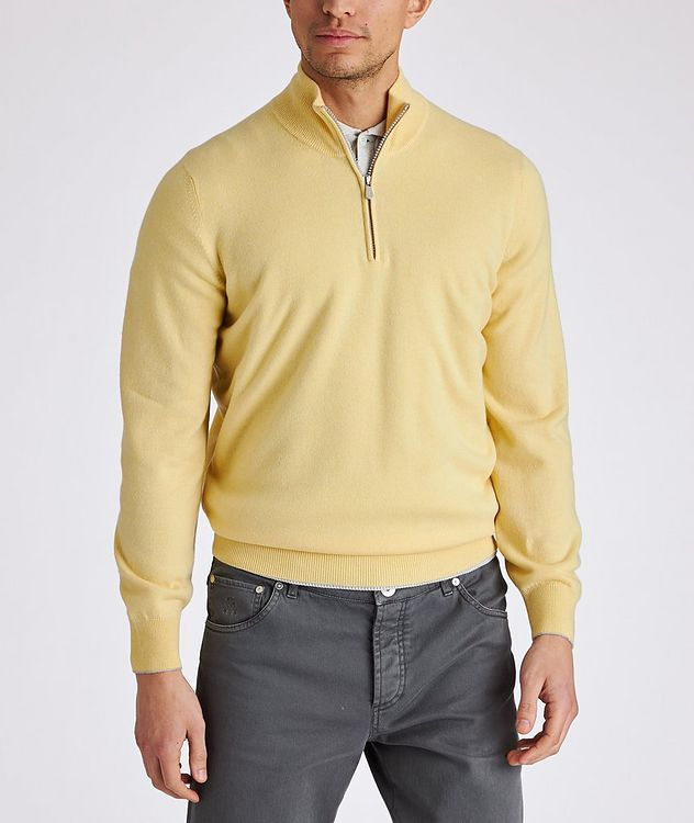 Half-Zip Cashmere Sweater picture 2