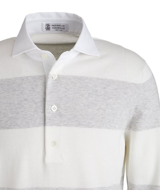 Long Sleeve Knit Cotton Polo picture 2