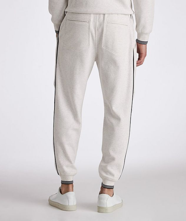 Cotton-Blend Pleated Drawstring Joggers picture 3