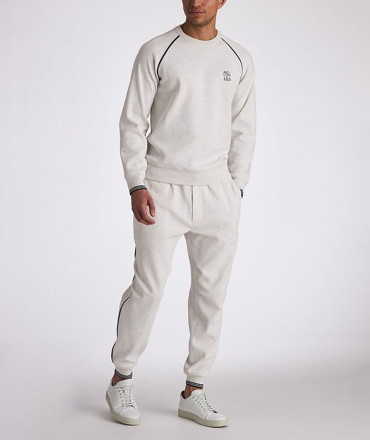 Cotton-Blend Pleated Drawstring Joggers image 4