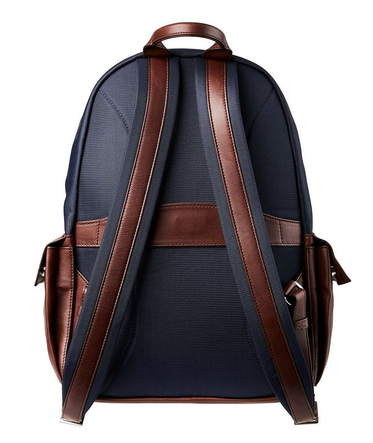 Nylon and Leather Backpack image 1
