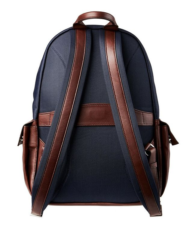Nylon and Leather Backpack picture 2