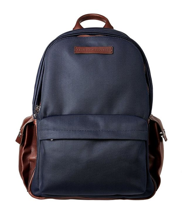 Nylon and Leather Backpack picture 1