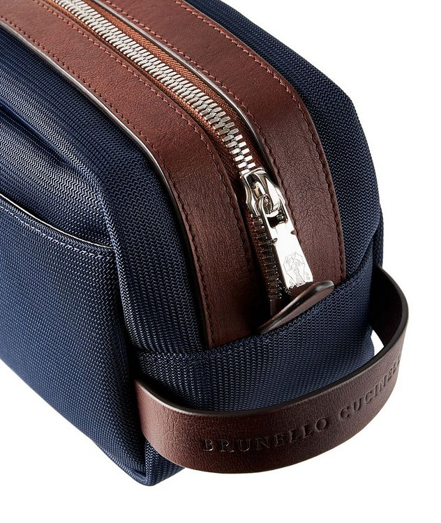 Nylon and Leather Dopp Kit picture 3