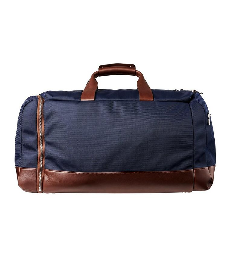 Nylon and Leather Duffel Bag image 1