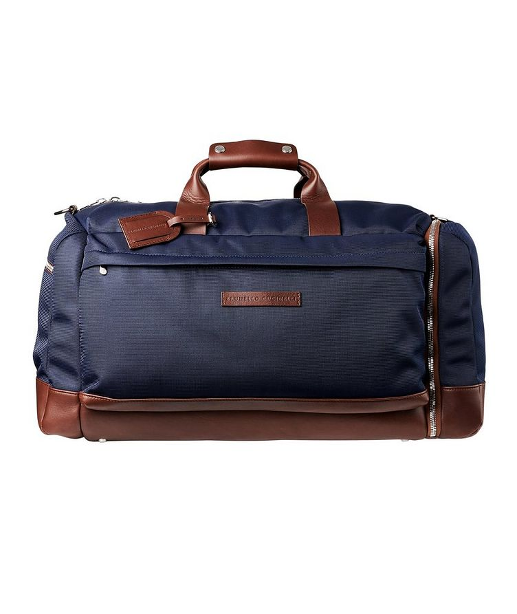 Nylon and Leather Duffel Bag image 0