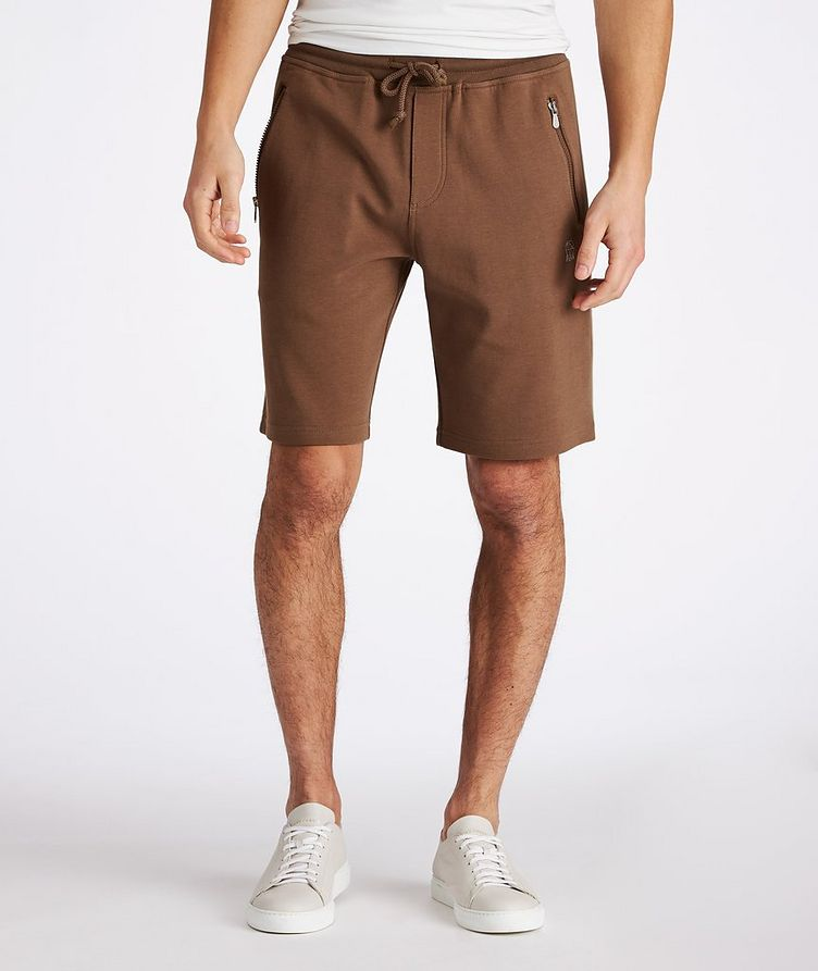 Cotton-Blend Drawstring Shorts image 1