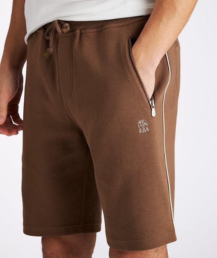 Cotton-Blend Drawstring Shorts image 3