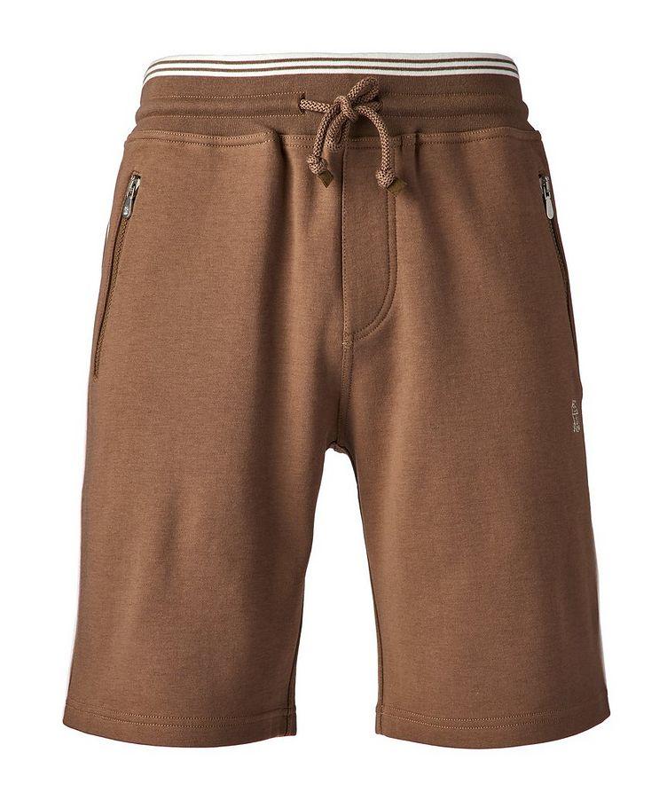 Cotton-Blend Drawstring Shorts image 0