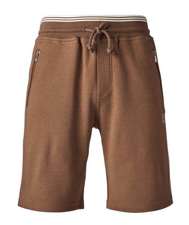 Cotton-Blend Drawstring Shorts picture 1