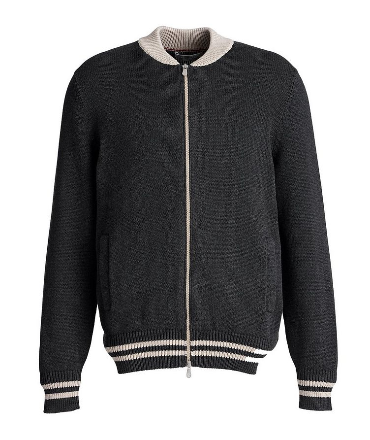 Varsity Zip-Up Sweater image 0