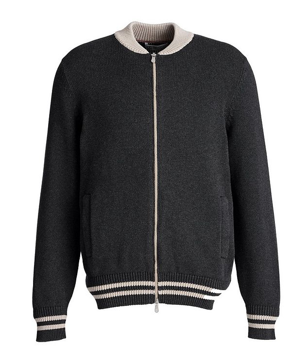 Varsity Zip-Up Sweater picture 1
