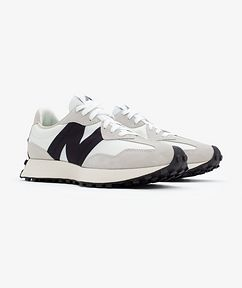 New Balance 327 Suede, Nylon, and Mesh Sneakers