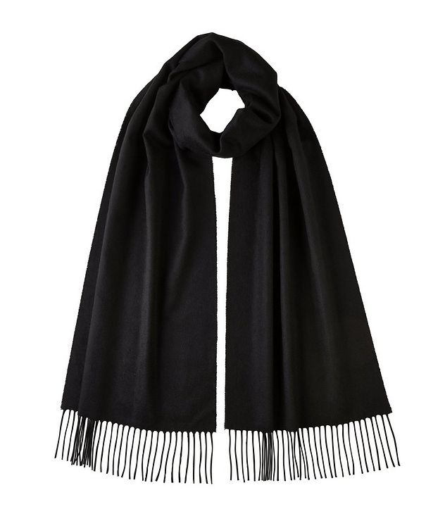 Fringed Cashmere Scarf picture 1