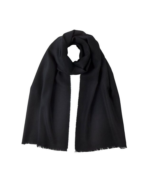 Fringed Merino Wool Scarf picture 1