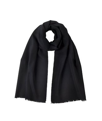 Johnstons of Elgin Fringed Merino Wool Scarf