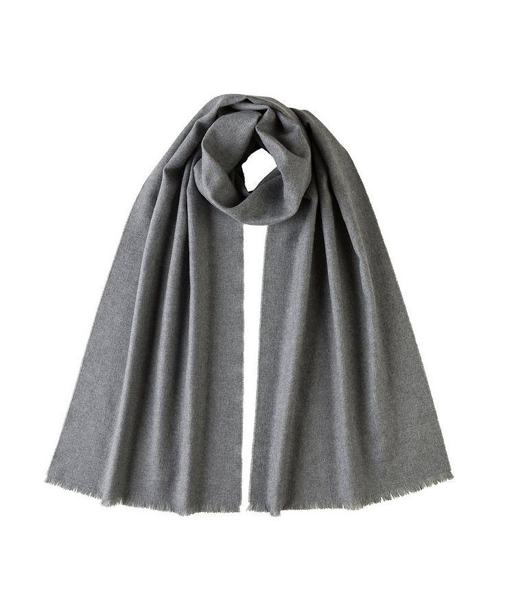 Fringed Merino Wool Scarf image 0