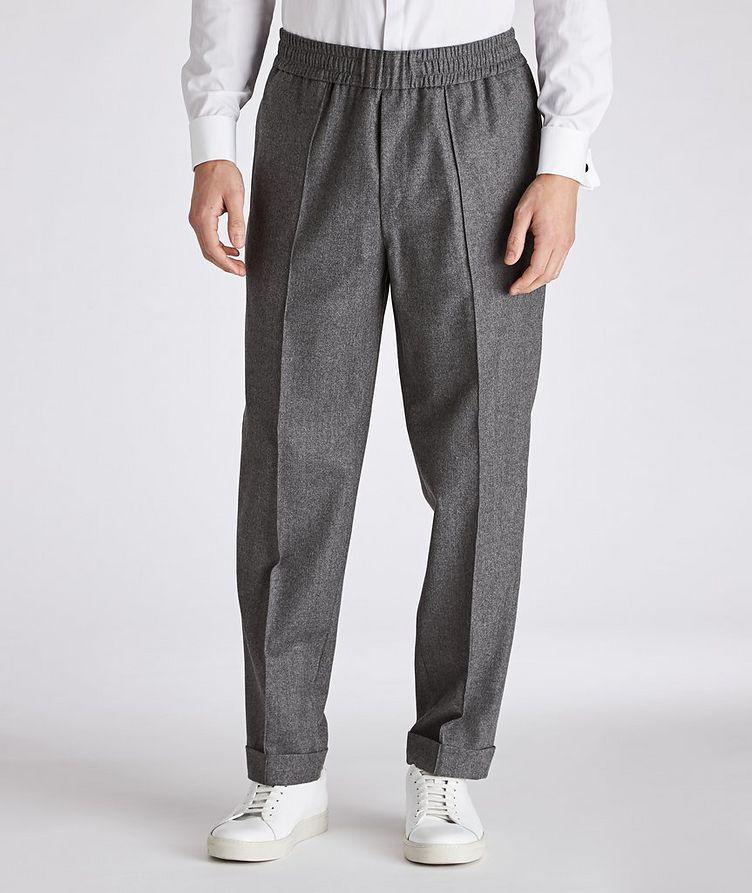 Drawstring Wool Pants image 0