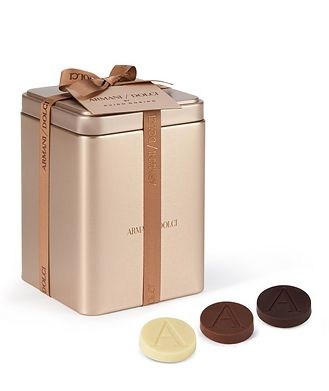 Giorgio Armani Assorted Chocolate Disks in Tin Box