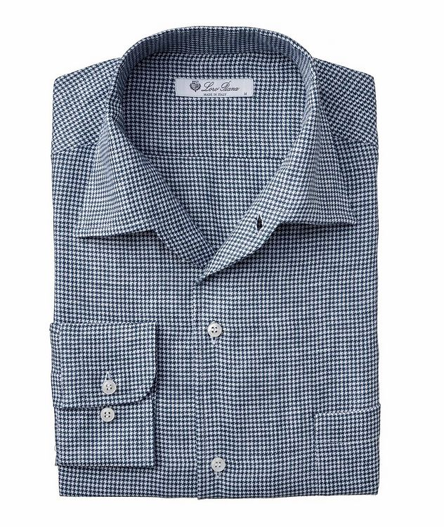 Andre Houndstooth Linen Shirt picture 1