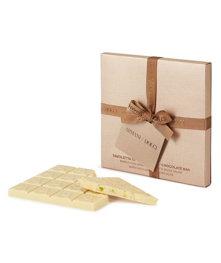 White Chocolate Bar with Salted Nuts image 0