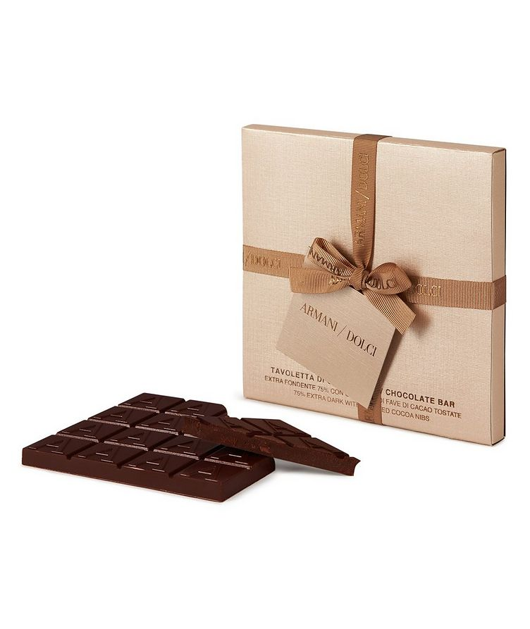 Extra-Dark Chocolate Bar with Roasted Cocoa Beans image 0