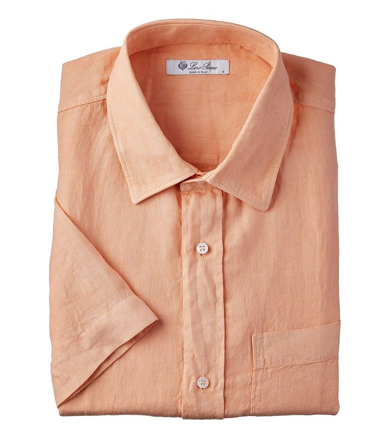 Linen Short-Sleeve Shirt image 0