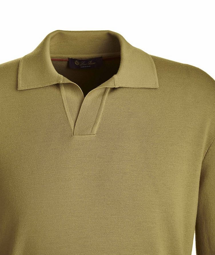 Empire Knit Wool Polo Sweater image 1