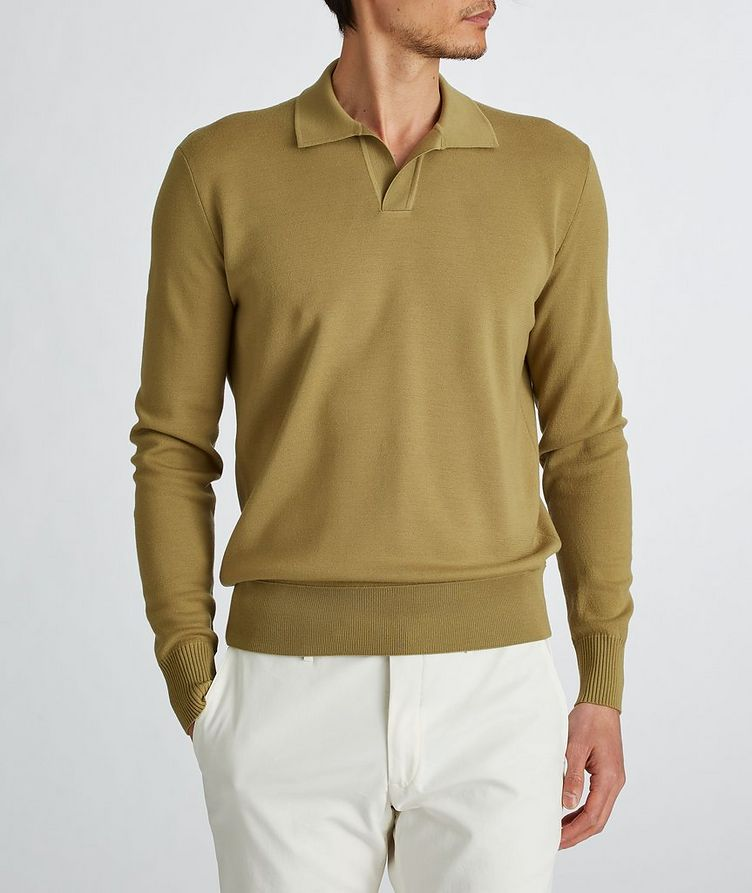 Empire Knit Wool Polo Sweater image 2