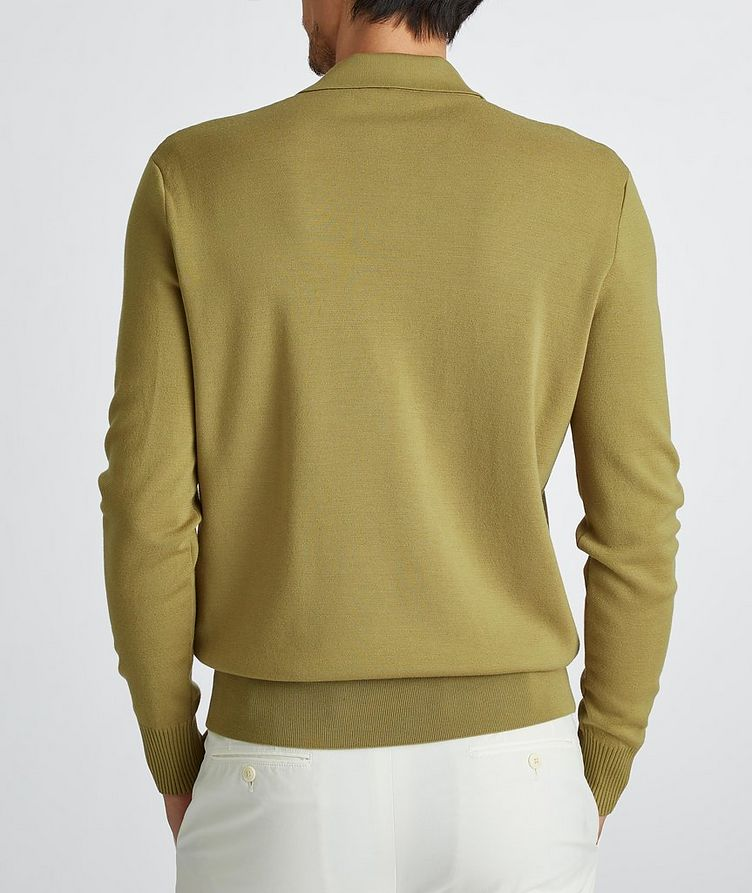Empire Knit Wool Polo Sweater image 4