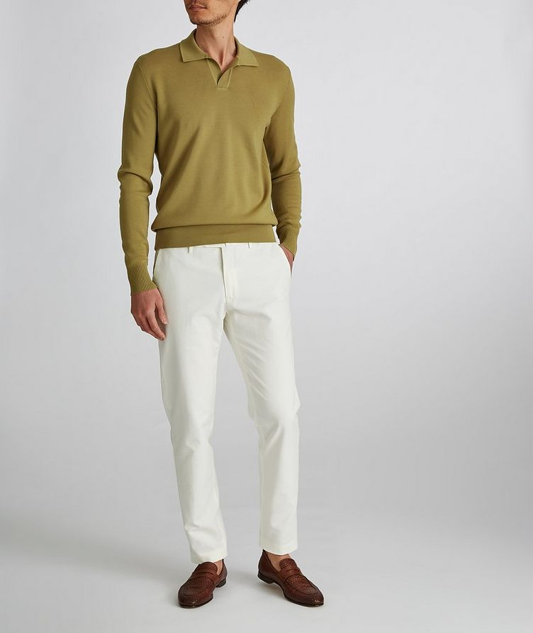 Empire Knit Wool Polo Sweater image 5