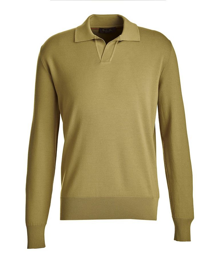 Empire Knit Wool Polo Sweater image 0