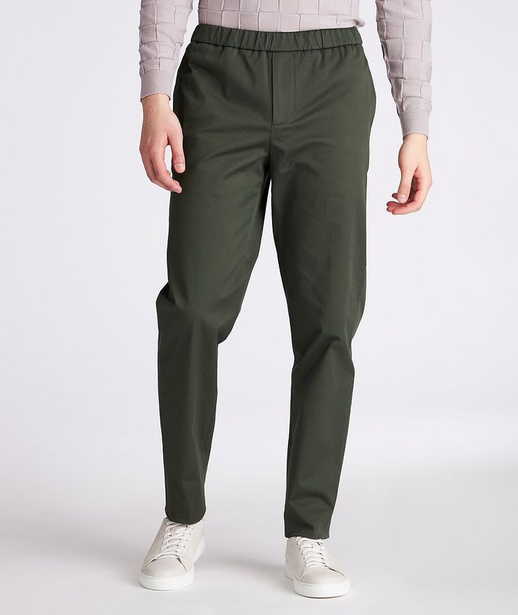 Leisure Flat Stretch-Cotton Pants image 1