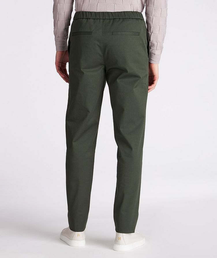 Leisure Flat Stretch-Cotton Pants image 2