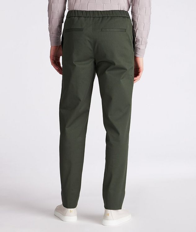 Leisure Flat Stretch-Cotton Pants picture 3