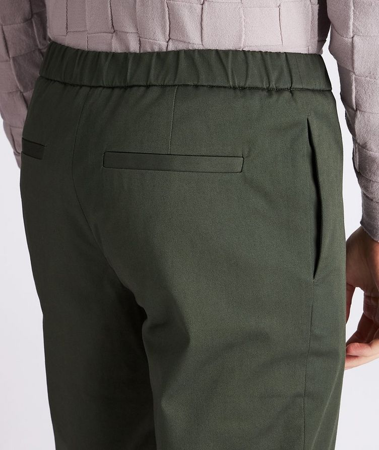 Leisure Flat Stretch-Cotton Pants image 3