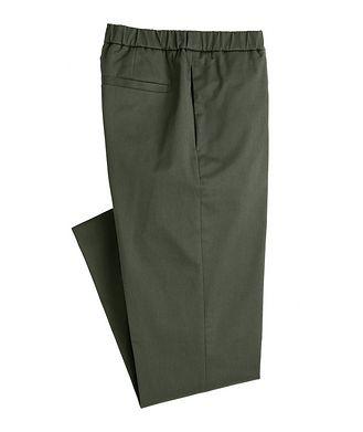Loro Piana Leisure Flat Stretch-Cotton Pants