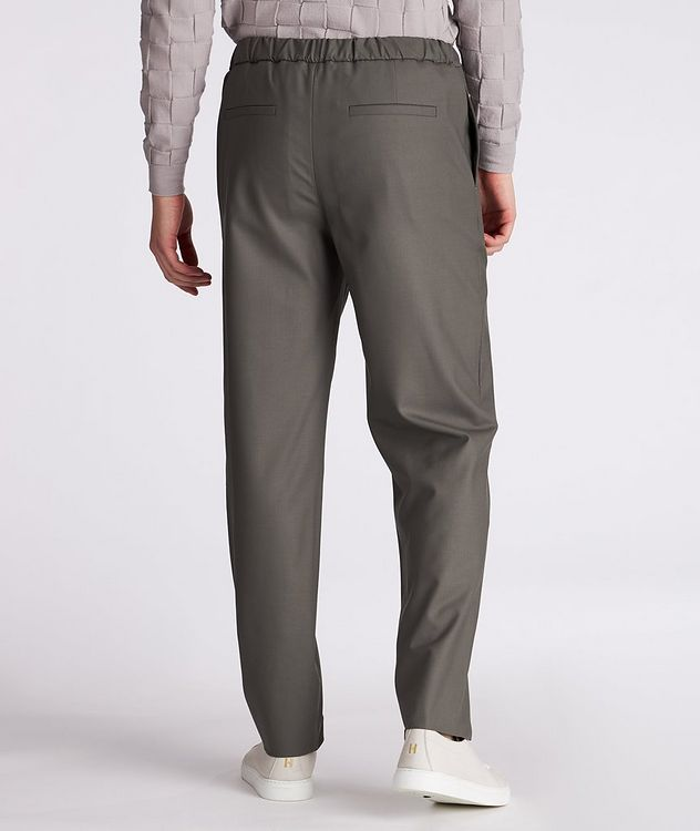 Leisure Flat Stretch-Wool Pants picture 3
