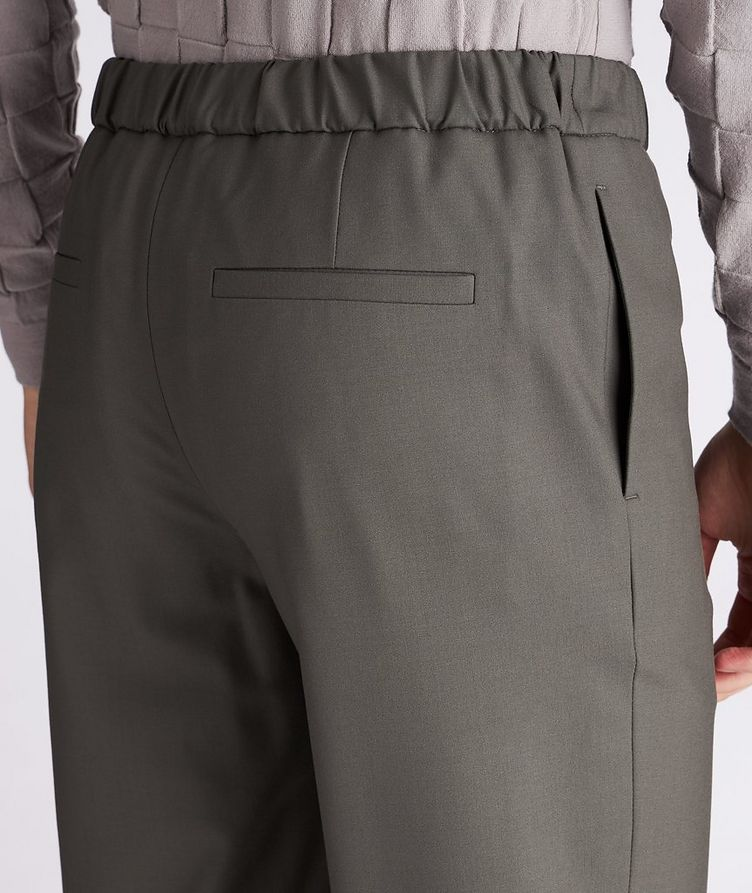 Leisure Flat Stretch-Wool Pants image 3