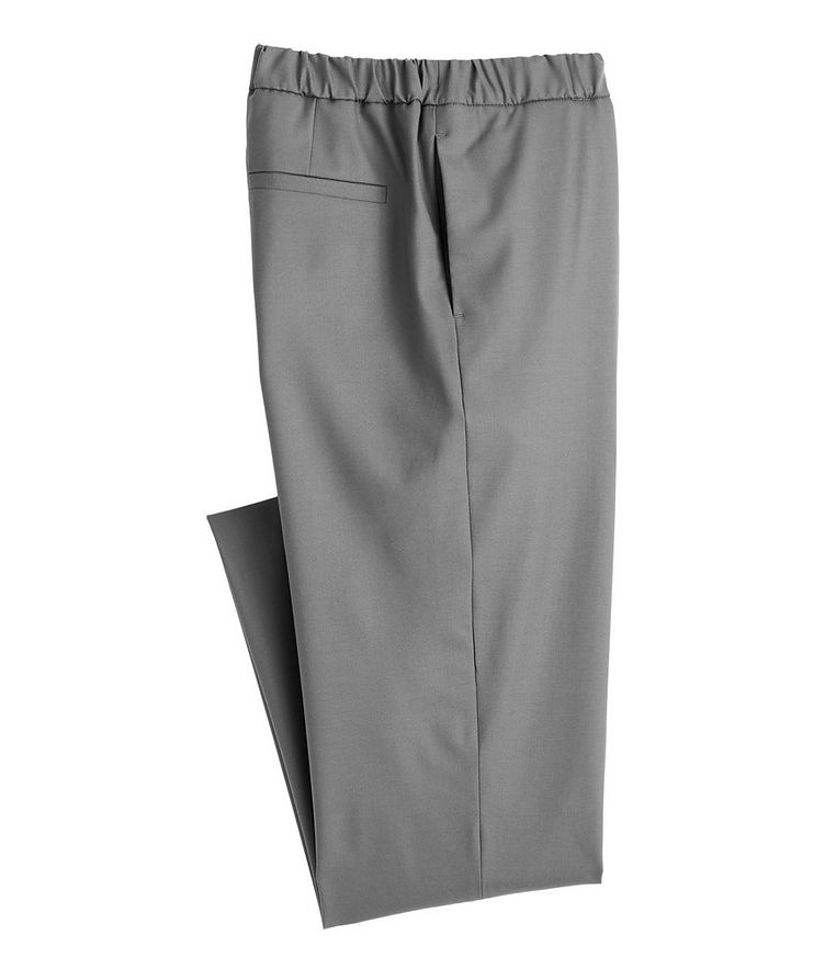 Leisure Flat Stretch-Wool Pants image 0