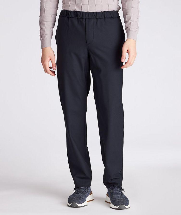 Leisure Flat Stretch-Wool Pants image 1