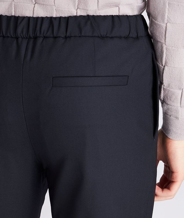 Leisure Flat Stretch-Wool Pants picture 4