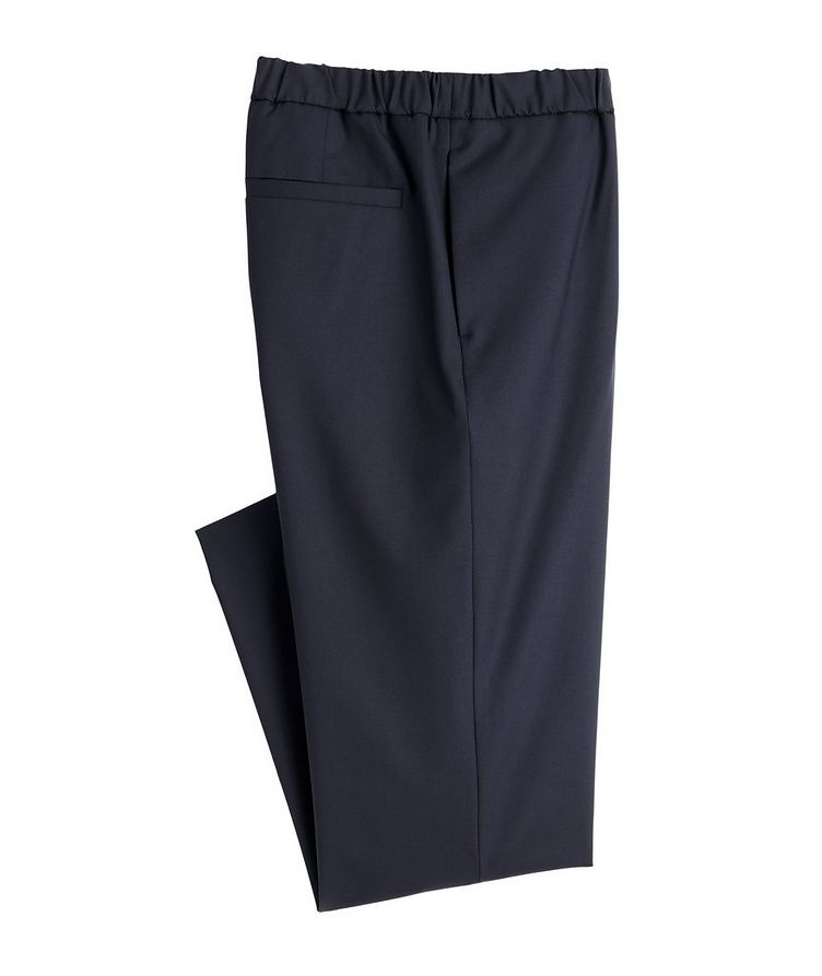Leisure Flat Stretch-Wool Pants image 0