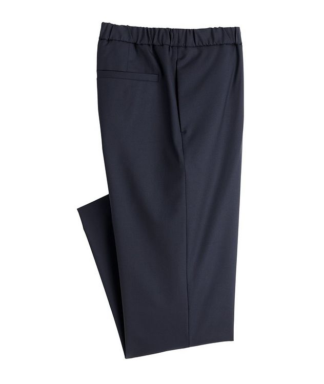 Leisure Flat Stretch-Wool Pants picture 1