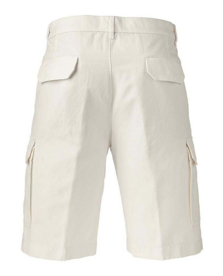 Cotton Linen Bermuda Cargo Shorts   image 1