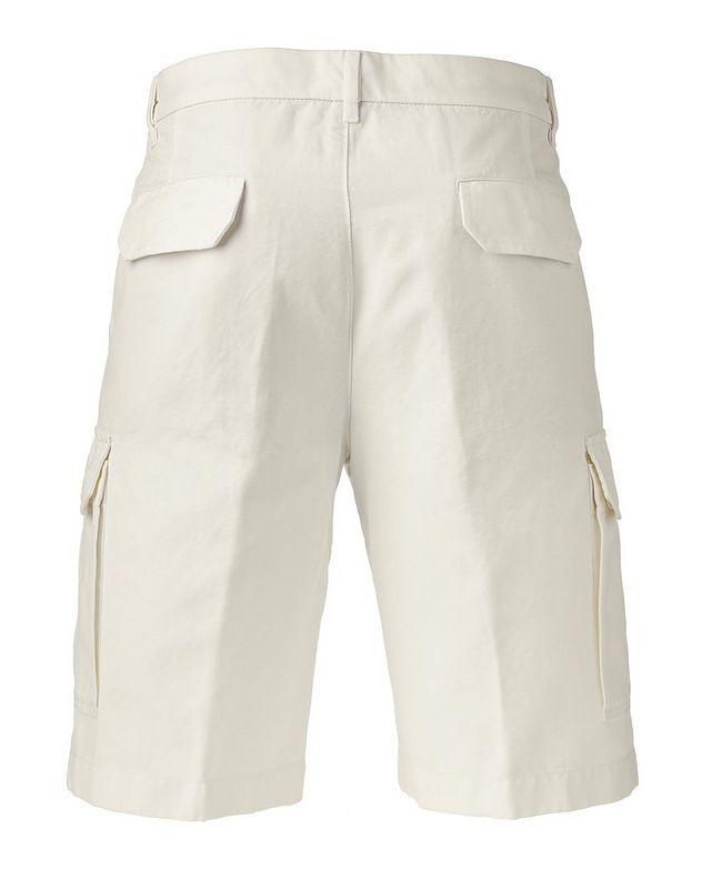Cotton Linen Bermuda Cargo Shorts   picture 2