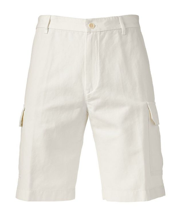 Cotton Linen Bermuda Cargo Shorts   picture 1