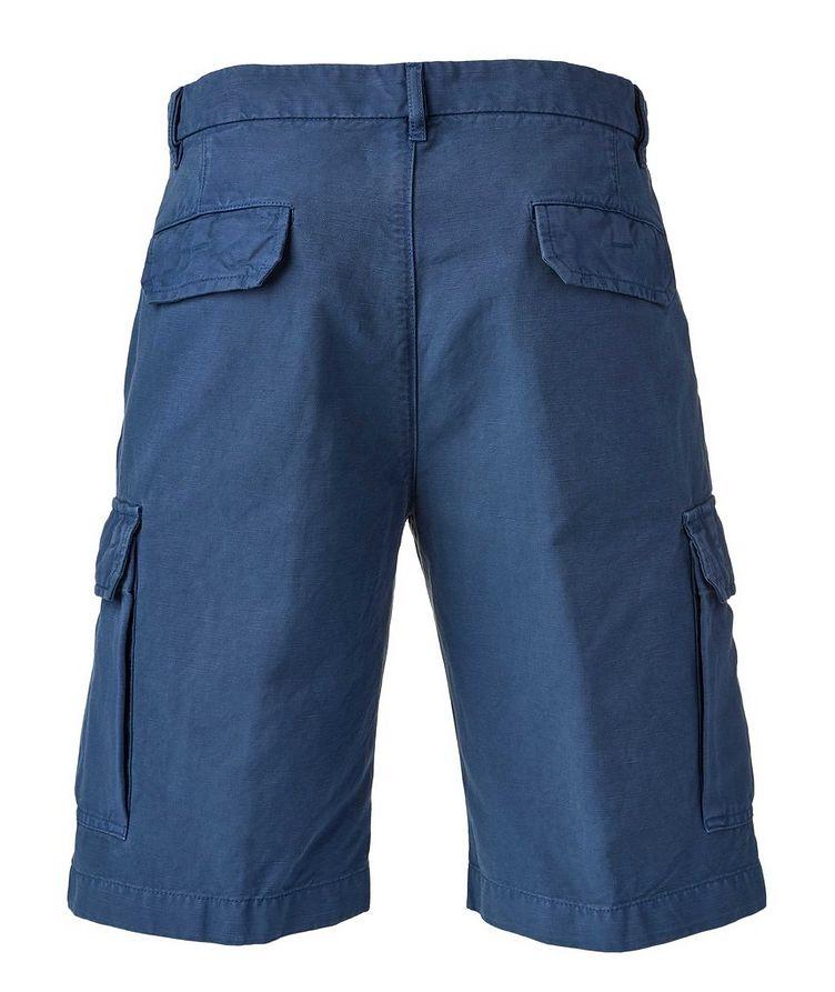 Bermuda en coton et lin à poches cargo image 1